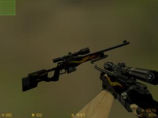 Black Awp With Flames